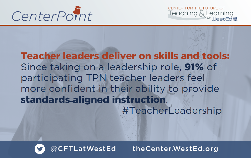 Teacher leaders deliver on skills and tools