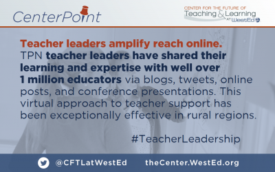 Teacher leaders amplify reach online