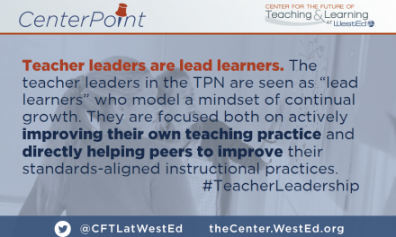 Teacher leaders are lead learners