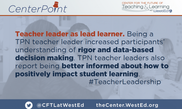 Teacher Leader as Lead Learner